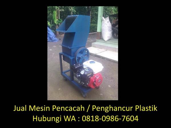 mesin penghancur plastik aqua di bandung