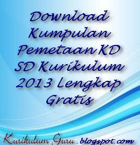 Download Kumpulan Pemetaan KD SD Kurikulum 2013 Lengkap Gratis