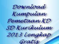 Download Kumpulan Pemetaan KI dan KD SD Kurikulum 2013 Lengkap Gratis