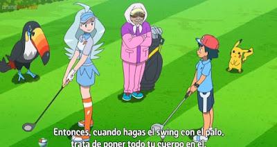 Pokemon Sol y Luna Capitulo 110 Temporada 20 Hoyo en uno en PokéGolf