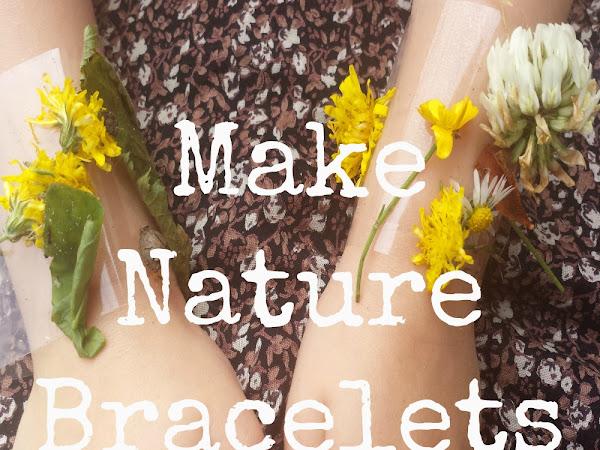 Homemade Nature Bracelets {Kids Craft}