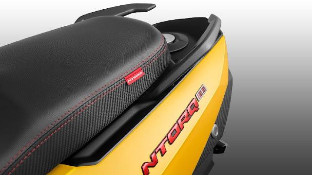 New 2018 TVS Ntorq 125cc scooter Seat