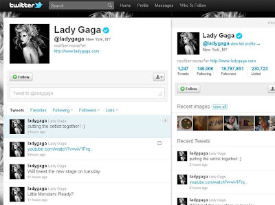 Twitter da Lady Gaga