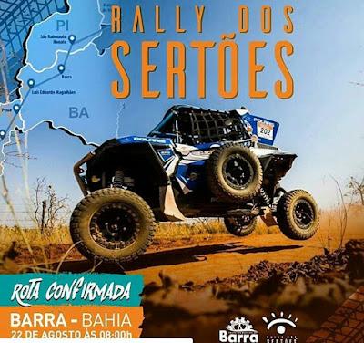 e6f973cf57a2 A 5ª etapa do Rally dos Sertões 2018 passará pela cidade de Barra (BA) no  próximo dia 22 de agosto! Considerado uma das maiores competições da  categoria no ...