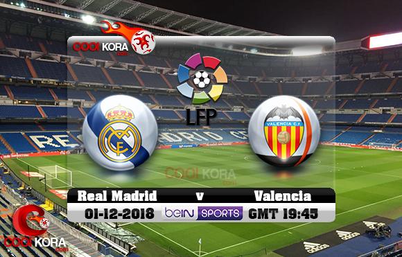 مشاهدة مباراة ريال مدريد وفالنسيا اليوم 1-12-2018 في الدوري الأسباني