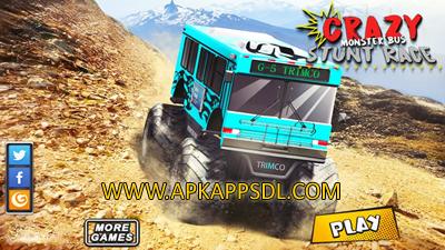 Download Crazy Monster Bus Stunt Race Apk Mod v1.3 Full Version 2017