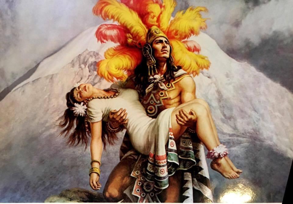 Huevitos De Faltriquera Guerrero Azteca Con Su Novia En Brazos