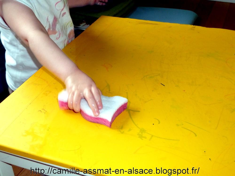 Nounou nature en Alsace laver la table entre autres