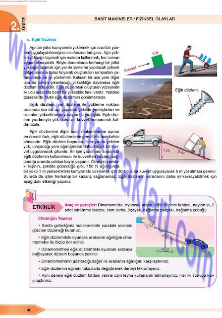 Öğün Yayınları 8. Sınıf Fen Bilimleri Ders Kitabı Cevapları Sayfa 46