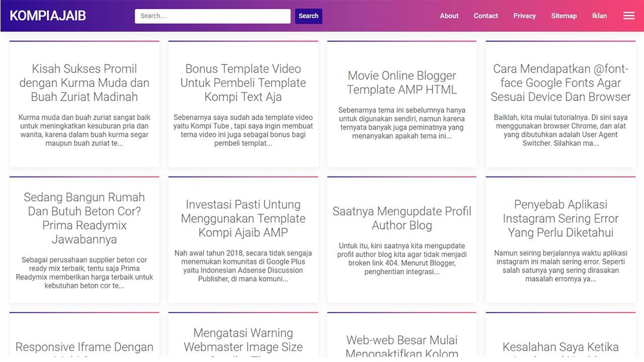 Update Template Kompi Ajaib AMP HTML Versi 3