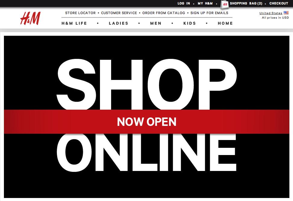 claire crisp h m online shop launches in us. Black Bedroom Furniture Sets. Home Design Ideas