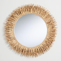 coconut shell wall mirror
