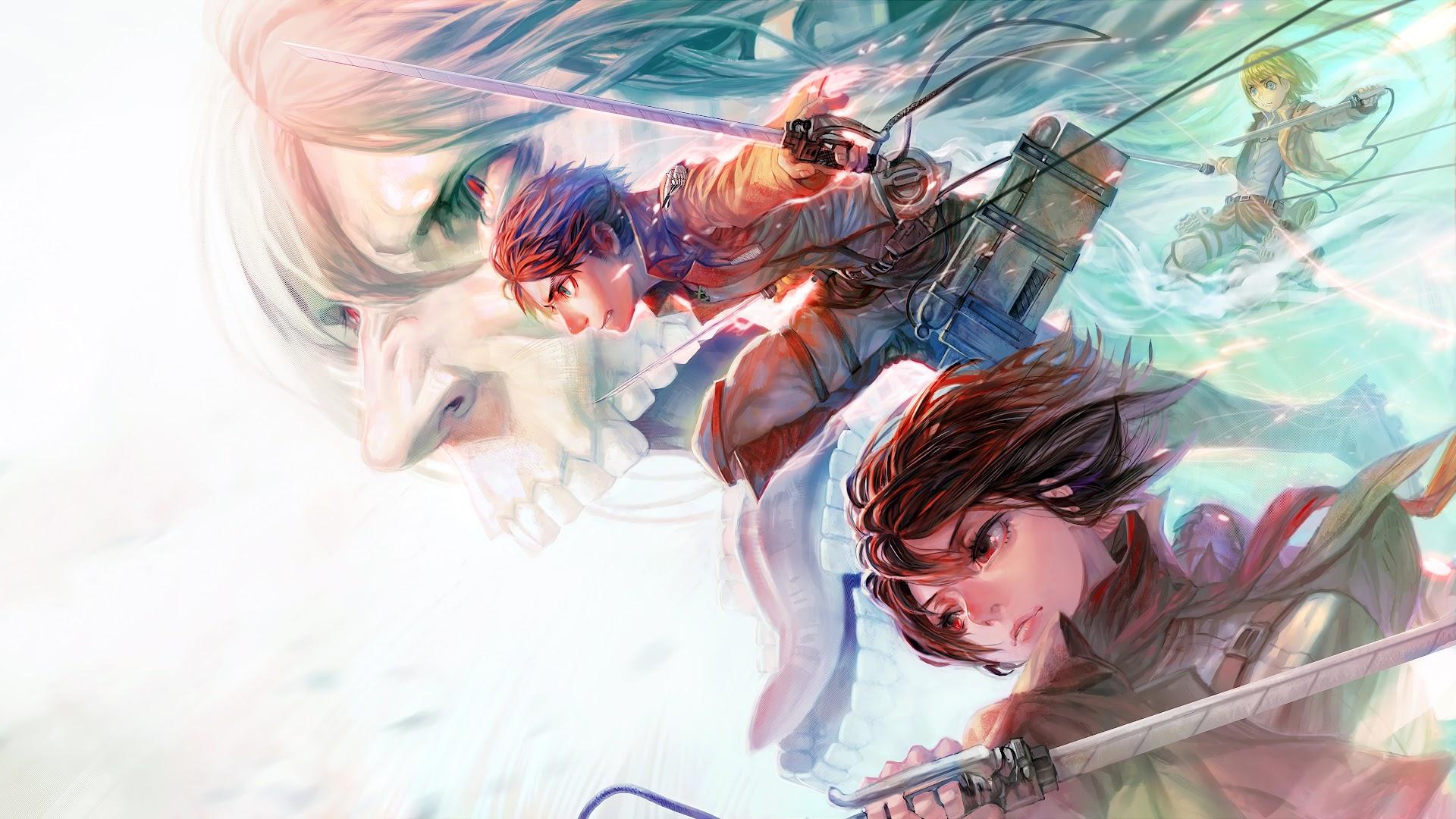 Mikasa Eren Armin Attack Titan Attack On Titan 4k Wallpaper 158