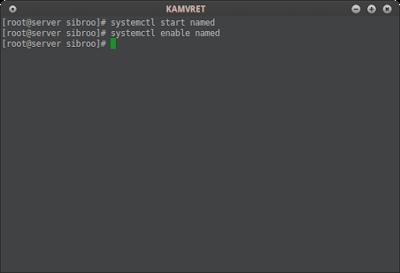 Jika sudah jalankan service bind nya dan setting bind nya biar autostart saat boot time berlangsung