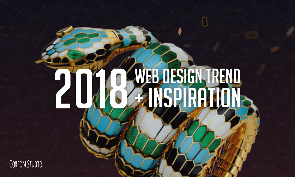 Trend and Inspiration Web Design 2018