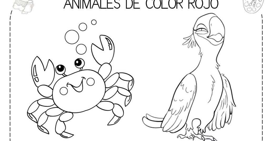 Mi grimorio escolar: ANIMALES DE COLOR ROJO