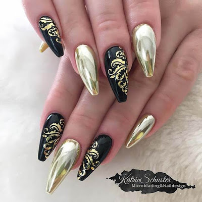 We think that black is one of the most trendy nail colors 31+ Latest Black Coffin Nails Ideas Collection For Summer Occasions