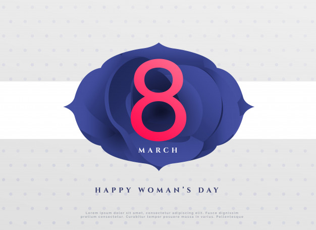 Elegant 8th march happy women's day background Free Vector