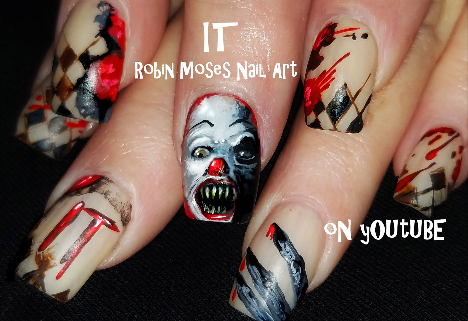 Nail Art By Robin Moses Cute Halloween Candy Corn People Nails