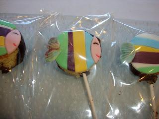 Cake pops de peces sin gluten