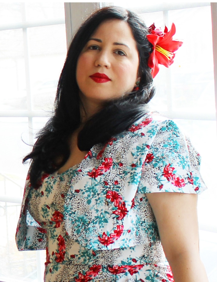 vintage christmas holiday retro style tropical dress by Vivien of Holloway