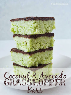 Coconut & Avocado Grasshopper Bars by raiasrecipes.com