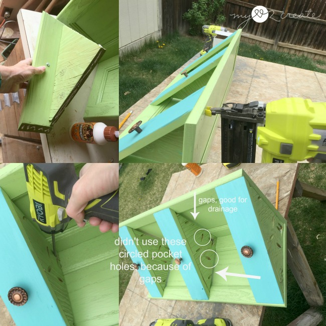 attaching corner planter shelves