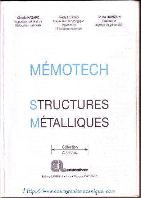 Télécharger Livre Memotech Structures Métallique en PDF