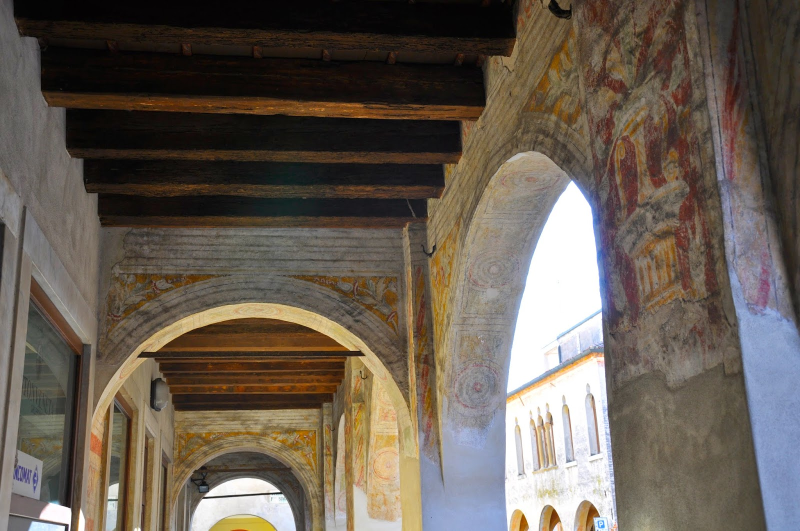beautiful painted archway Cittadella Northern Italy