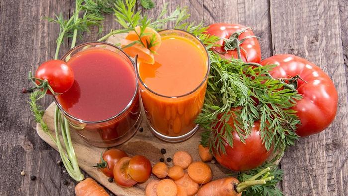 Manfaat minum jus tomat yang dicampur wortel