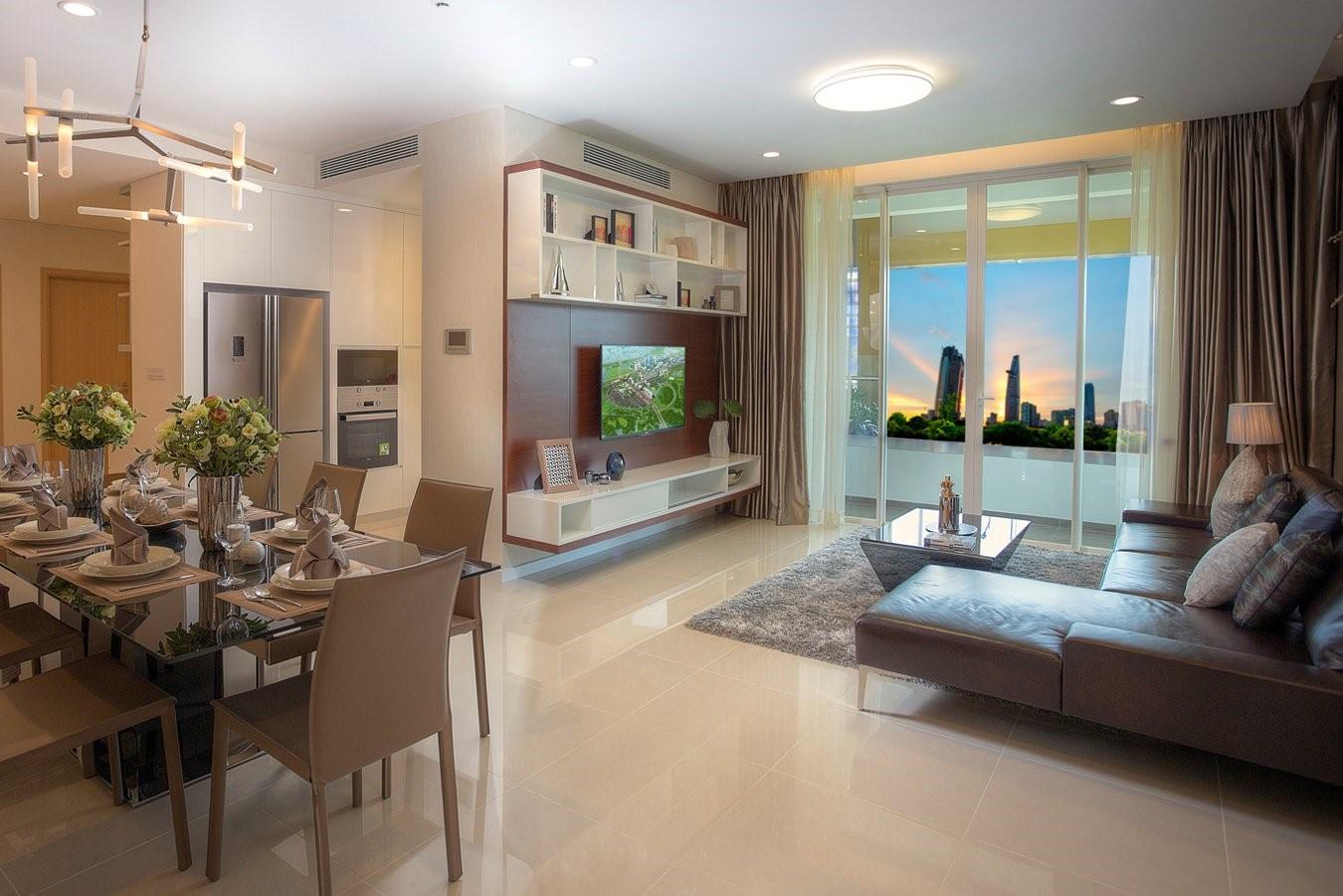Phối cảnh thiết kế nội thất căn hộ Bel Air Hà Nội