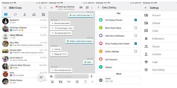BBM Mod iOS Light V11 Based V3.0.1.25 Apk