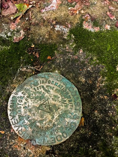 Geologic Survey Marker at the top of St. Peter's Dome - The highest point in the Chequamegon Forest