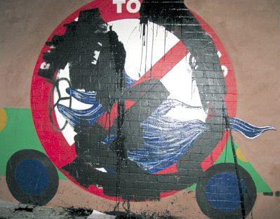 Vandalized mural #68