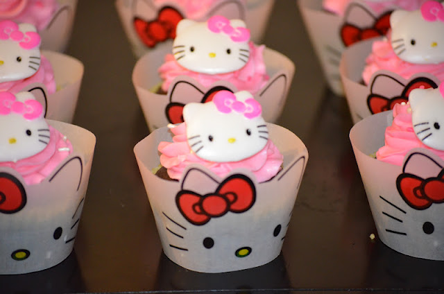 Birthday Cake Hello Kitty Cupcakes