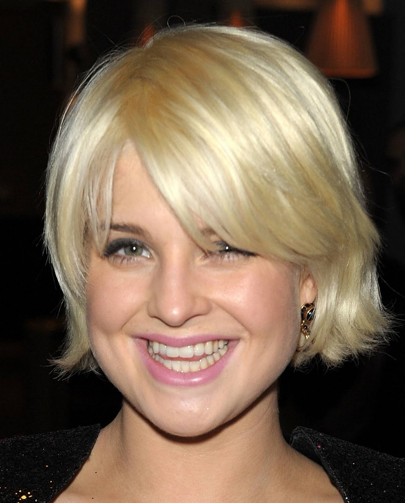 With Short Blond Hair