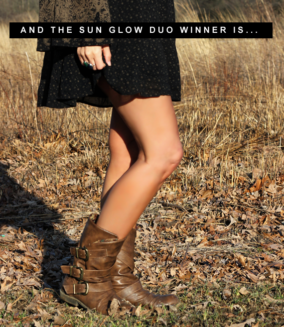 Skin Authority Sun Glow Duo Giveaway Winner!