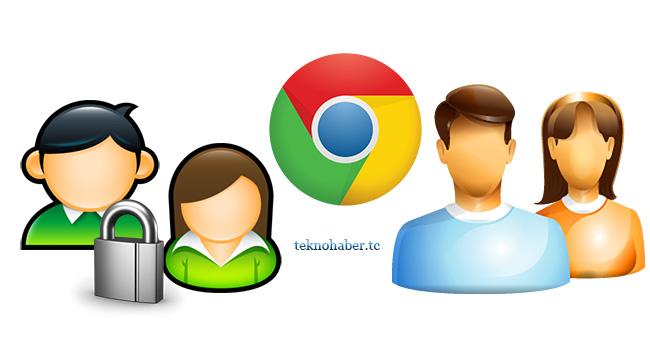 Google Chrome kilitli admin profili