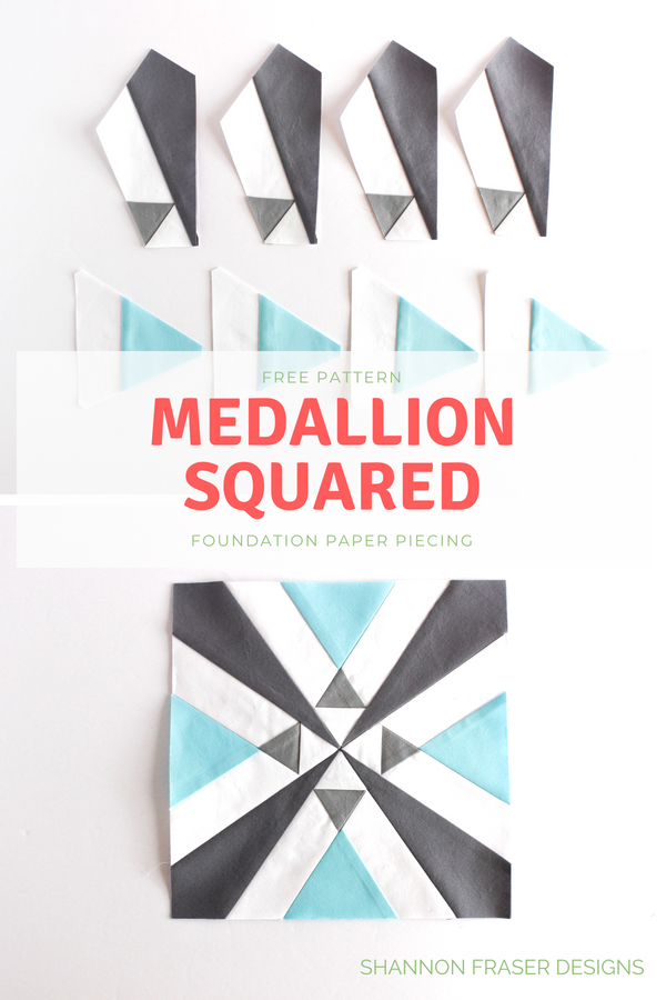 Medallion Squared | Free quilt pattern for newsletter subscribers | Q4 2018 FAL | Shannon Fraser Designs