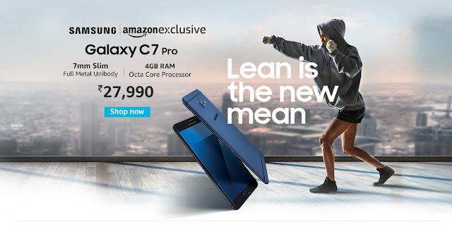 Samsung Galaxy C7 pro amazon exclusive