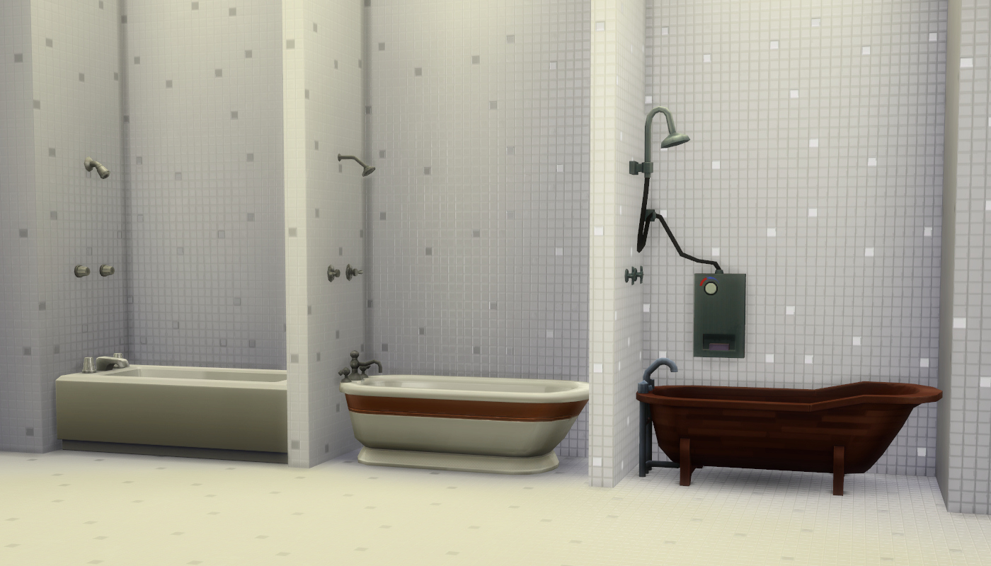 My Sims 4 Blog Mix N Match Showers Amp Tubs By Madhox
