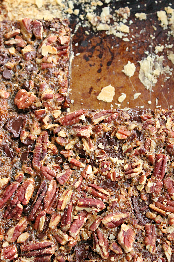 Chocolate Pecan Slab Pie: Table for Seven