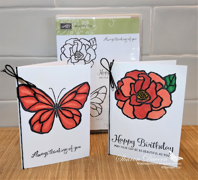 Beautiful Day, Calypso Coral, Stampin' Blends, Art With Heart, alcohol markers