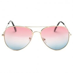 2 Chic Gradual Color Lenses Metal Frame Sunglasses For Women