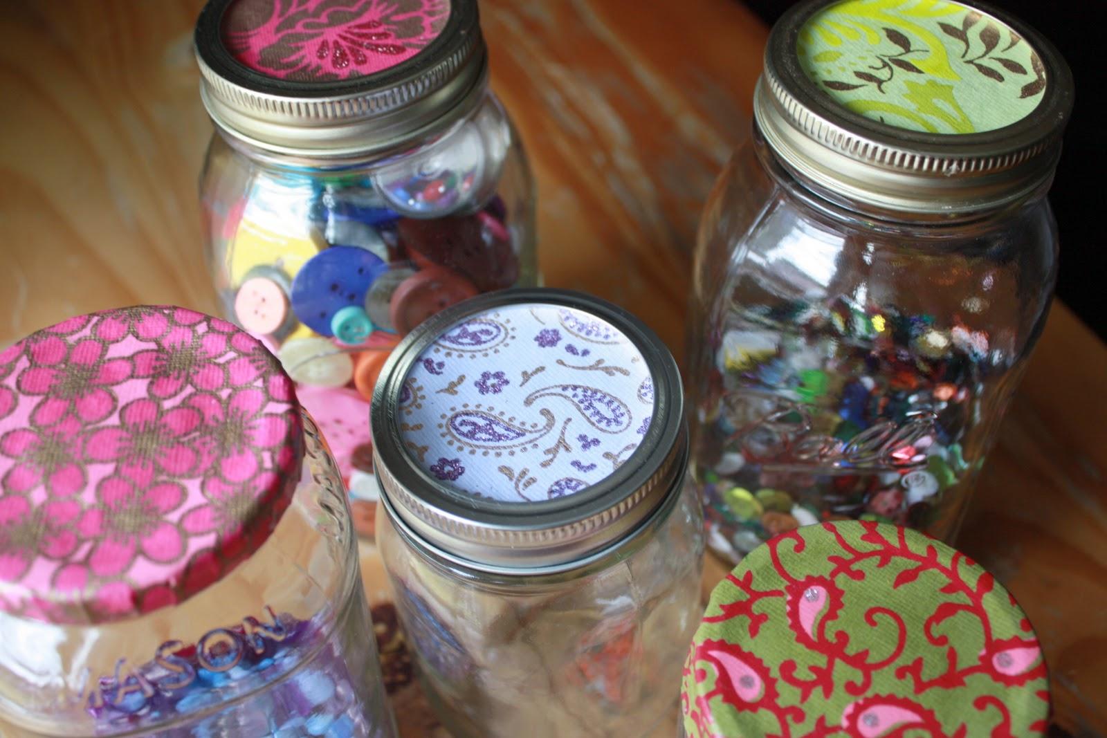 Mason Jar Lid Decorations The Sweet Spot Howto Pimp your Mason Jars 52 & Decorative Jars: mason jar lid decorations | carinsurancepaw.top