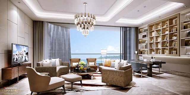 thiết kế căn hộ tại La Luna Resort