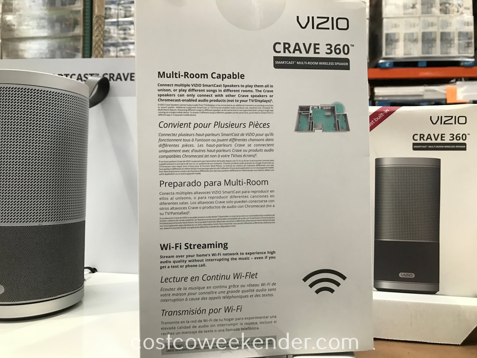 No need to have a large stereo system when you have the Vizio Crave 360 SmartCast Speaker