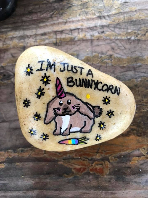 bunnycorn rock painting ideas