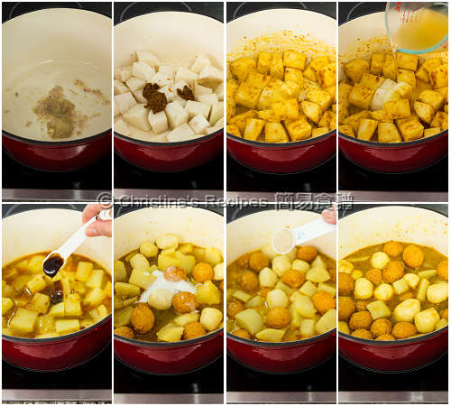 How To Make Curry Fish Balls with Radish