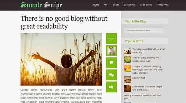 Simple Snipe Free Blogger Template